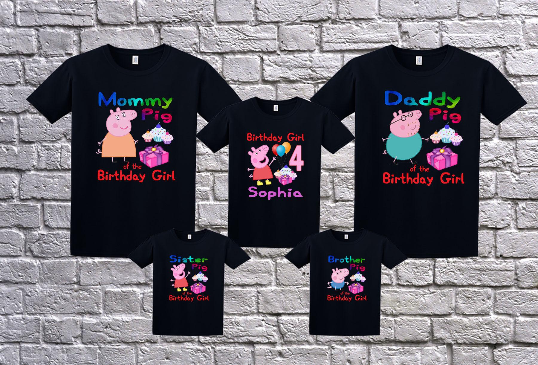 Peppa Pig Birthday Shirt For Girls