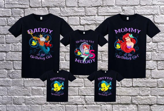 The Little Mermaid Birthday Shirt Personalized