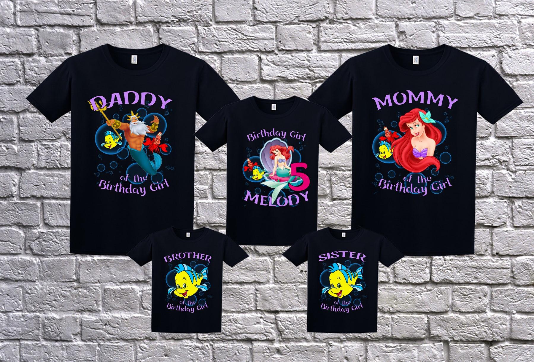 The Little Mermaid Birthday Shirt Personalized