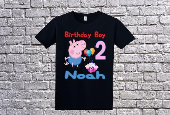 Peppa Pig Birthday Shirt Custom George Personalized