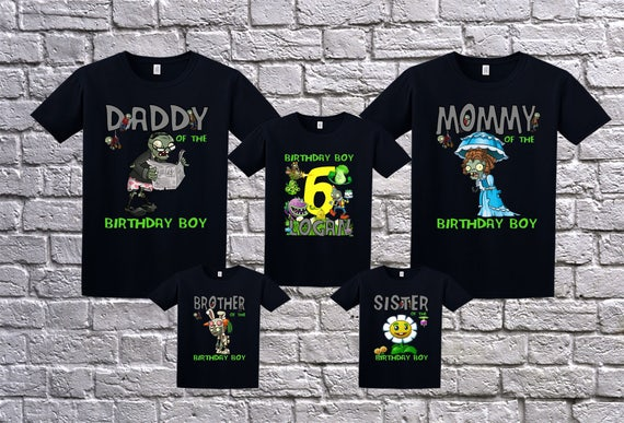 Plants Vs Zombies Birthday Shirts
