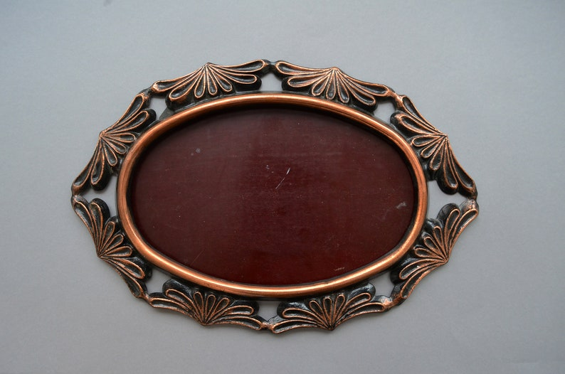 Oval ornate photo frame Wall hanging unique open frame Large wedding metal picture frame Hallway dining room mantel bedroom decor
