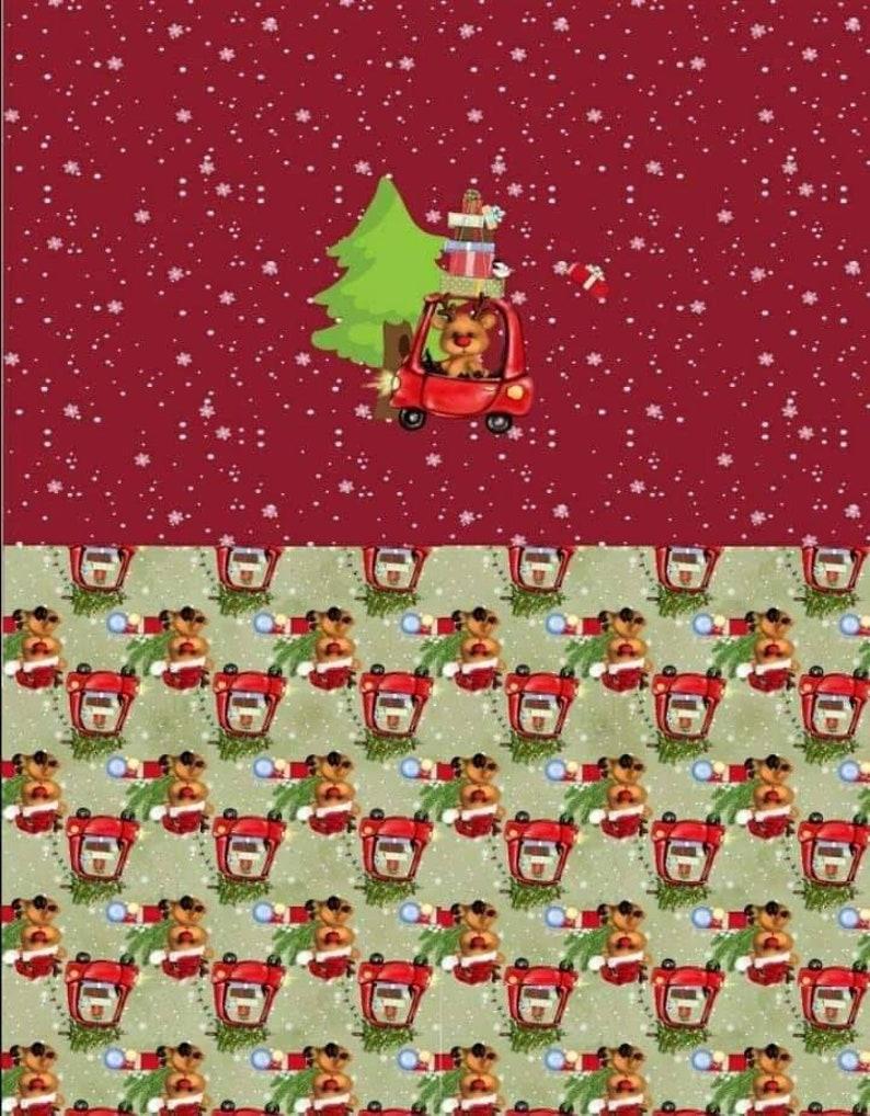 Custom Cloth diaper,wetbag or pod Maroon Santa/'s lil Helper maroon