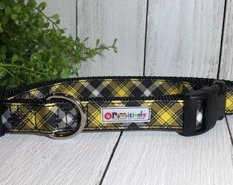 Black & Yellow Plaid, Dog Collar