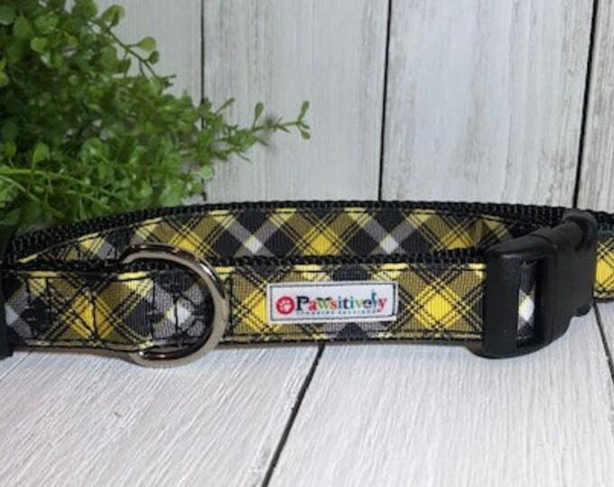 Black & Yellow Plaid, Dog Collar