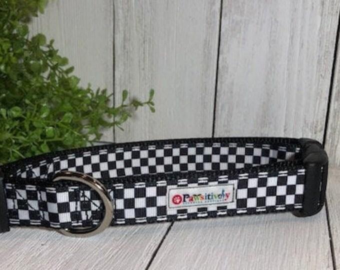 Checkered Flag / Racing, Dog Collar