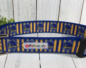 Dog Collar Golden State Warriors with Matching Leash Option