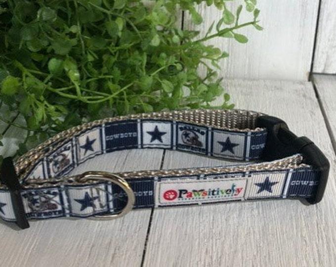 "Dallas Cowboys, 5/8""Dog Collar"