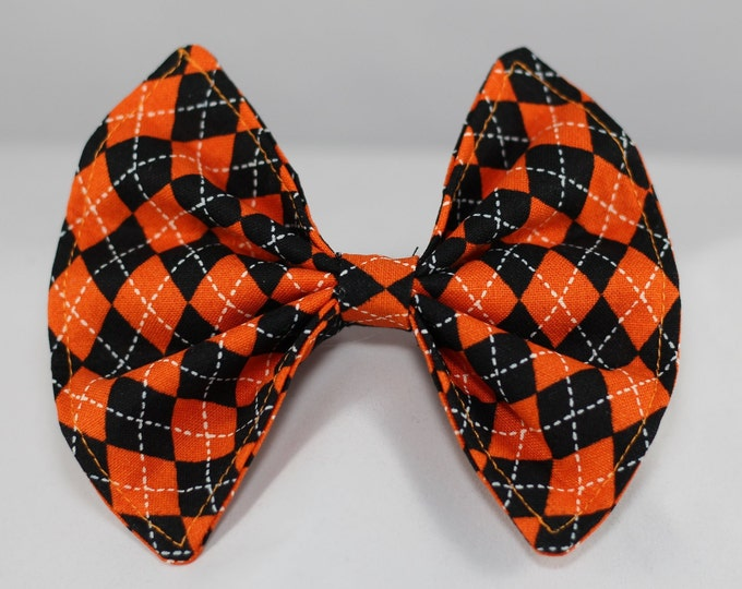 Pet Bow / Orange and Black / S, M, L