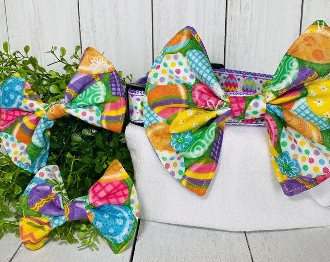 Easter Eggs Bow / Bow Tie for Pet Collar