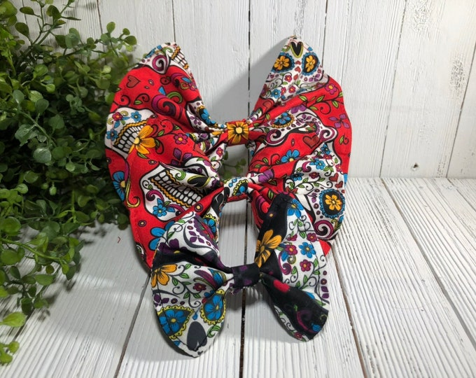 Pet Bow Sugar Skulls / S, M, L