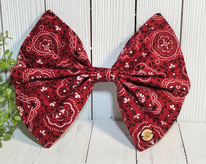 Bow, Red Bandana, Dog Accessory