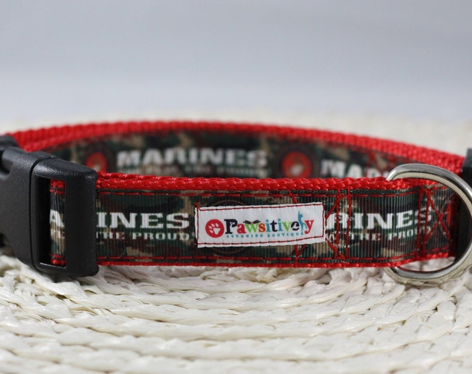 Dog Collar US Marines / Camouflage