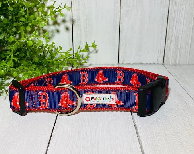 "Boston Red Sox Baseball Dog / Pet Collar 1"""