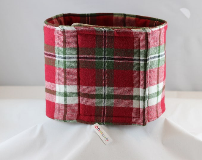 Christmas Plaid Flannel Belly Band