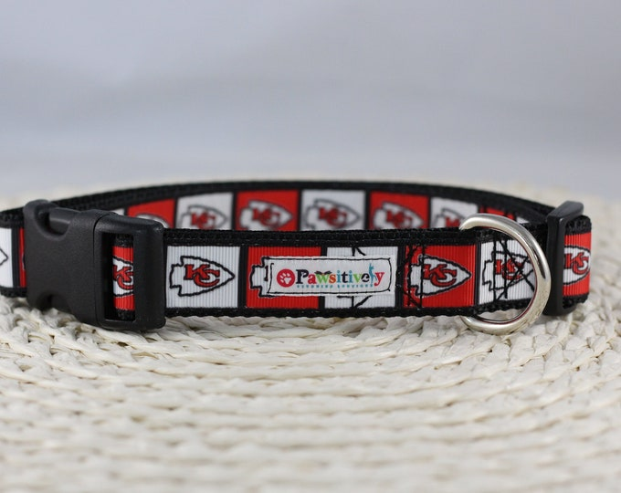 "1""Dog Collar, Kansas City Chiefs"