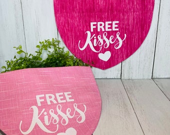 FREE Kisses Personalized Bandanna,  Slip On the Collar
