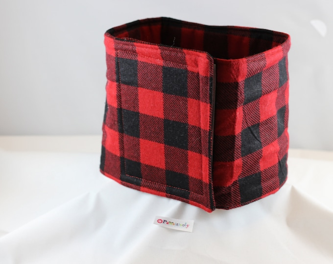 Red and Black Flannel Belly Band