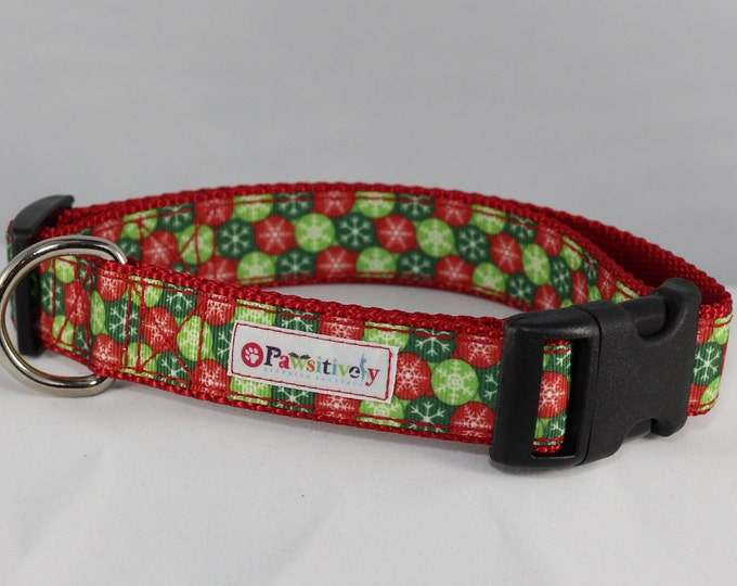 "1"" Christmas Ornaments Dog Collar"
