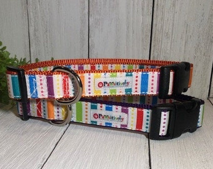 Rainbow Stripes, Dog Collar