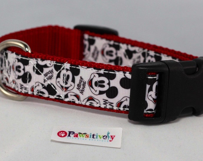 Collar, Mickey Mouse, Leash Option, 1""