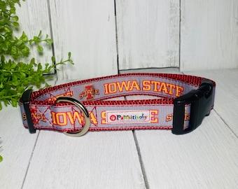 """Dog Collar 1"""" Iowa State"""