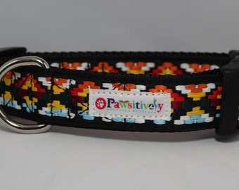 "Dog Collar 1"" Aztec Print"