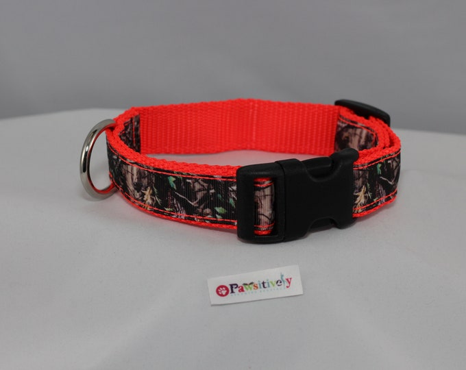 Dog Collar Camouflage / Neon Orange 1""