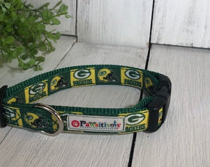 "Green Bay Packers Square, 5/8""Dog Collar"