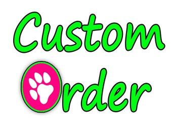 "Custom Dog Collar, Matching 6 ft. Leash Option, 1"" Wide"