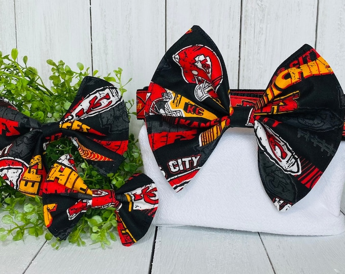 Kansas City Chiefs Bow / Bow Tie for Pet Collar