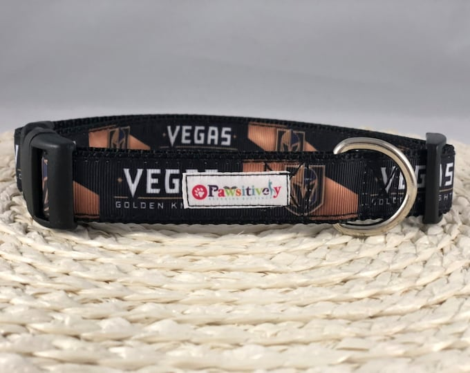 "1"" Dog Collar, Vegas Golden Knights"
