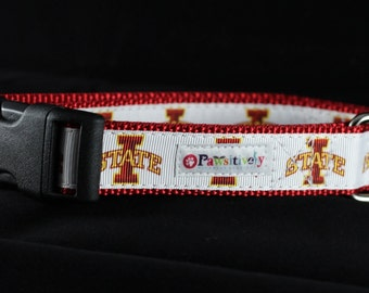 "1"" Dog Collar, Iowa State Cyclones"