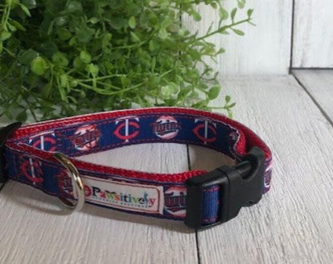 """Minnesota Twins Baseball, 5/8""""Dog Collar"""