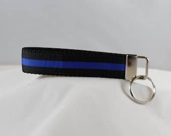 Thin Blue Line Key Chain