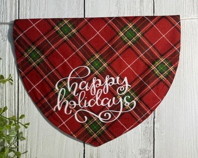Happy Holiday's Christmas Personalized Bandanna,  Slip On the Collar