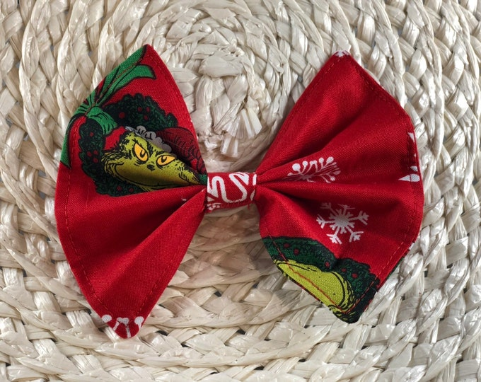 Grinch Pet Bow / S, M, L