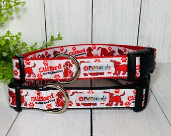 "Clifford the Big Red Dog, Dog / Pet Collar 1"""