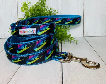 Teal Nike Collar & Leash Combo