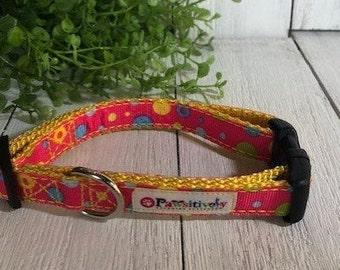 "Lot of Dots, 5/8""Dog Collar"
