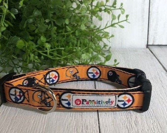 "Pittsburgh Steelers, 5/8""Dog Collar"