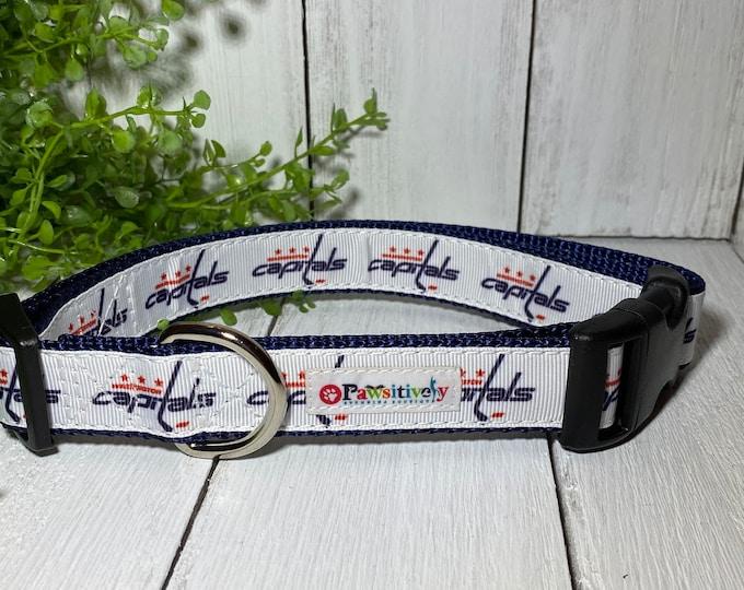 "Washington Capitals Hockey Dog / Pet Collar 1"""