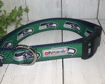 "Seattle Seahawks 1""Dog Collar"