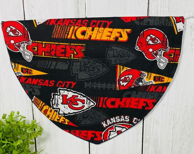 Kansas City Chiefs Dog Bandanna,  Slip On the Collar