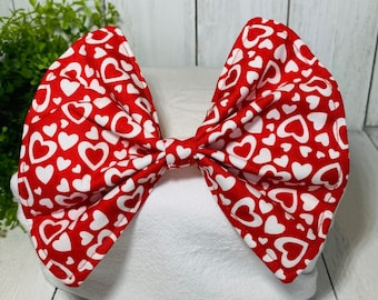 Pet Bow, Red, Hearts, Valentine's Day