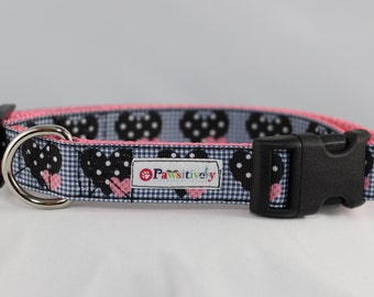 """Dotted Hearts 1"""" Dog Collar"""