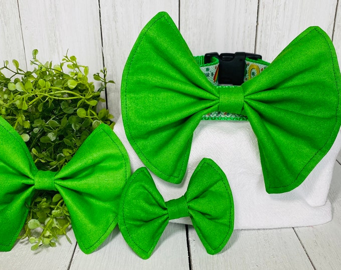 Green Bow / Bow Tie for Pet Collar