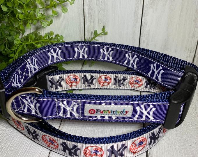 "New York Yankees Baseball Dog / Pet Collar 1"""