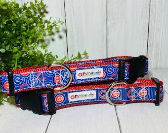 "Chicago Cubs Dog Collar 1"""