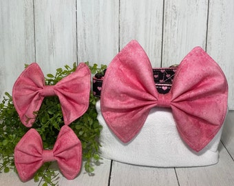 Pink Variegated Bow / Bow Tie for Pet Collar